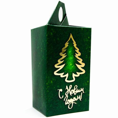 Коробка подарочная 14 х 8 см С Новым Годом Елочка Зеленый 5 штук