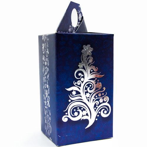Коробка подарочная 14 х 8 см С Новым Годом Елочка Синий 5 штук