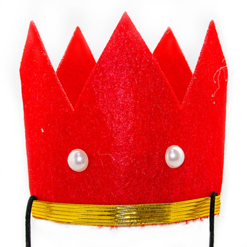 Красная корона фетр