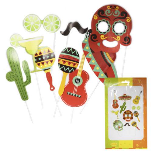 Набор для фотосессии Мексиканская вечеринка 11 штук