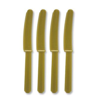 Нож пластик золотой 24 штуки