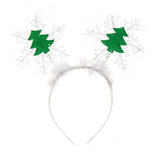 Ободок Снежинки с елочками