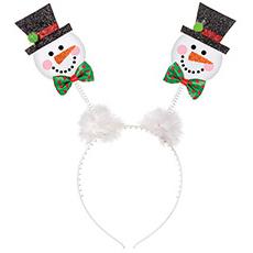 Ободок - антенки Снеговик Рождество блеск