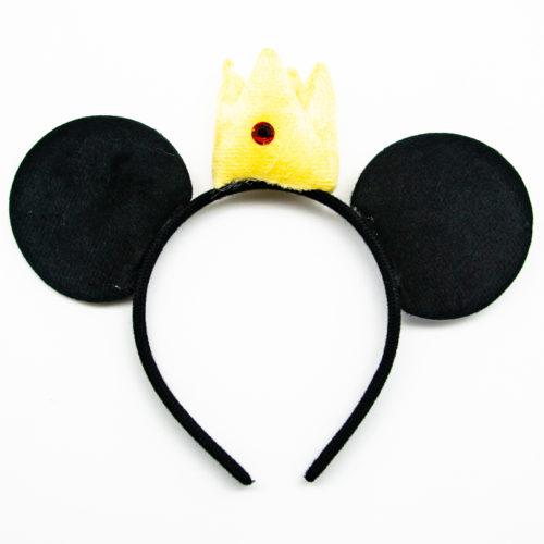 Ободок с ушками Мышка с короной