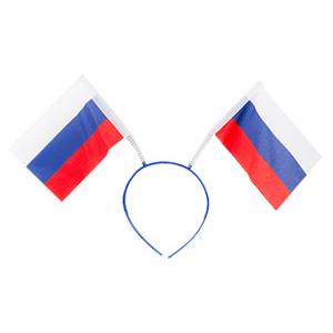 Ободок с флажками Россия триколор