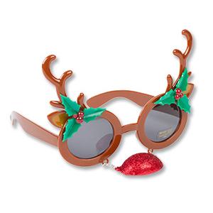 Очки Олень Рождественский с носом