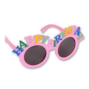 Очки HB Happy Birthday розовые