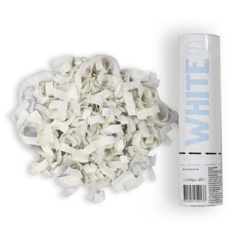Пневмохлопушка Белое конфетти 20 см