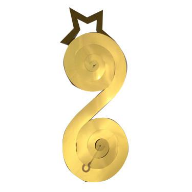 Подвесные спирали 27 см Звезды Золотые 3 штуки