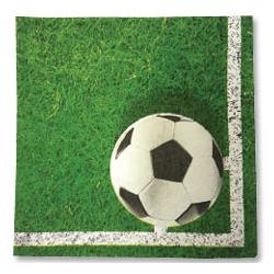 Салфетка 33 х 33 см Футбол зеленый 20 штук