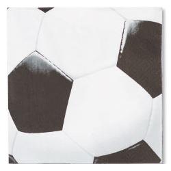 Салфетка 33 х 33 см Футбол 16 штук