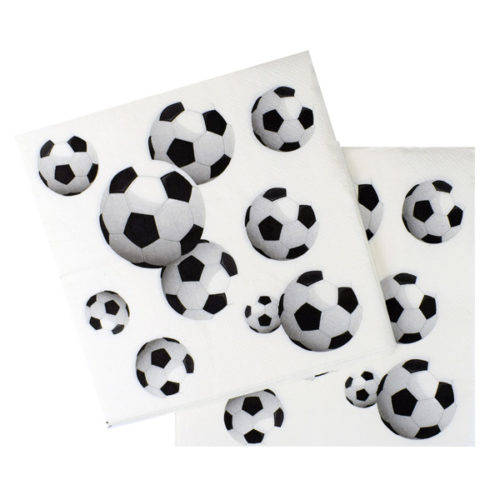 Салфетки 33 Х 33 см Футбол 20 штук