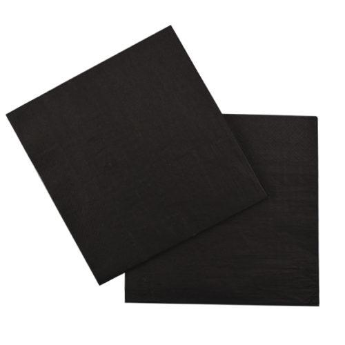 Салфетки 33 Х 33 см Black Черный 12 штук