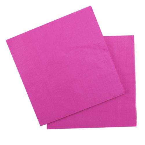 Салфетки 33 Х 33 см Hot Pink Фуксия 12 штук