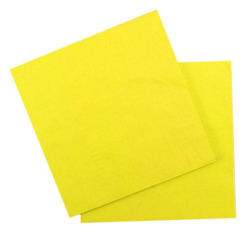 Салфетки 33 Х 33 см Yellow Желтый 12 штук