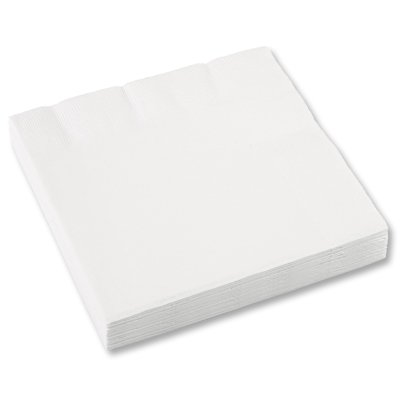 Салфетки 33 х 33 см белые Frosty White 16 штук