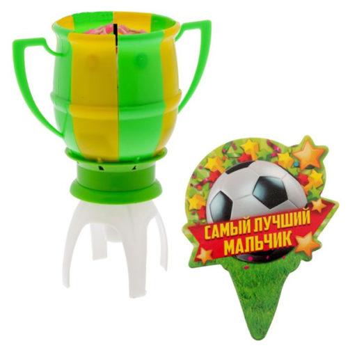 Свеча музыкальная Футбольный кубок 14 х 11 см