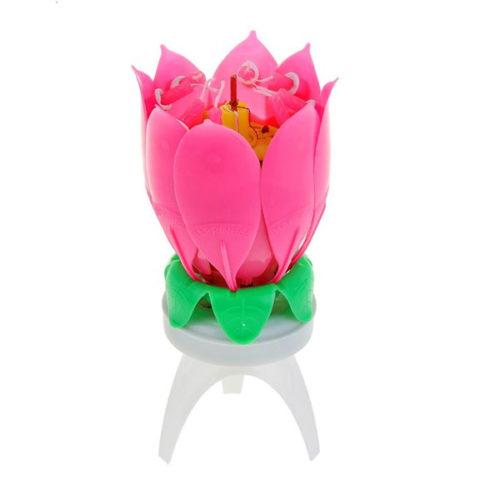 Свеча музыкальная Цветок 14 х 6 см