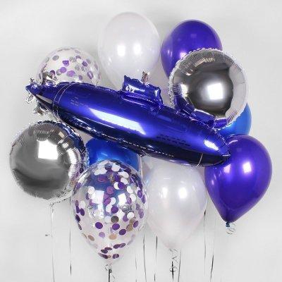 Связка из шаров с Конфетти и Подводной лодкой