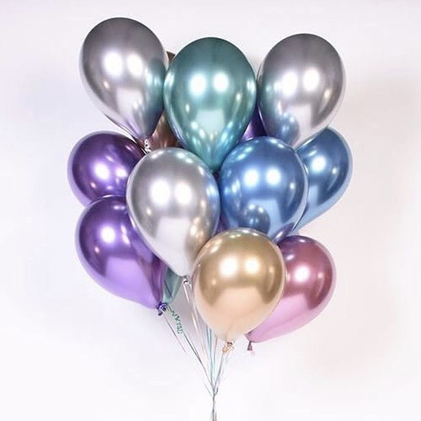 Связка из 15 шаров Хром разноцветные