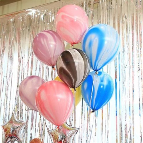 Связка из 7 шаров Мрамор Ассорти