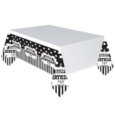 Скатерть п-э HB Black & White горошек 137 х 260 см