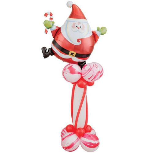 Стойка ростовая из шаров Санта с конфетой