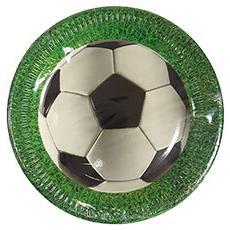Тарелка 23 см Футбол зеленый 8 штук