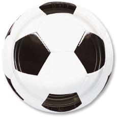 Тарелка 23 см Футбол 8 штук