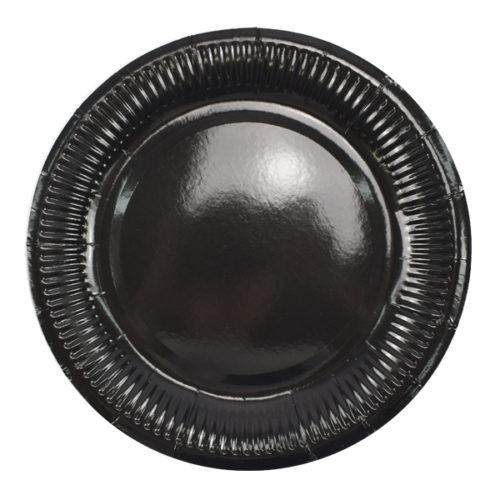 Тарелки 18 см Black Черный 6 штук