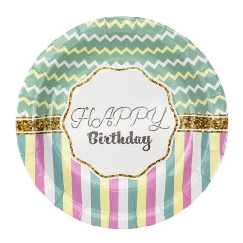 Тарелки 18 см Happy Birthday Тиффани 6 штук