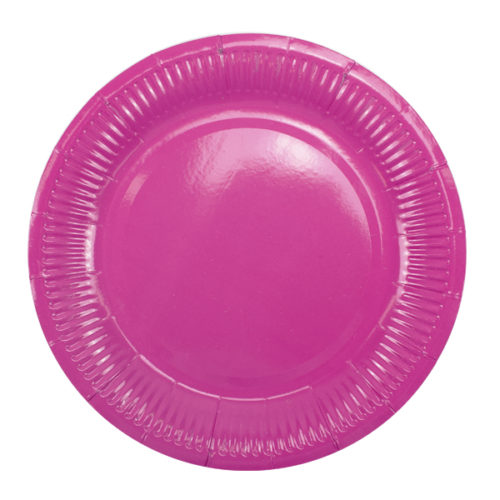 Тарелки 18 см Hot Pink Фуксия 6 штук