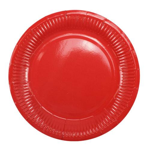 Тарелки 18 см Red Красный 6 штук