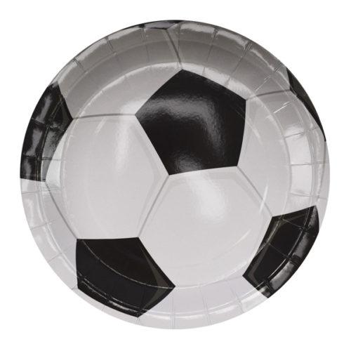 Тарелки 23 см Футбол 6 штук