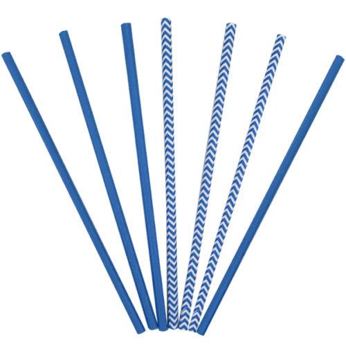 Трубочки бумажные ассорти Blue 12 штук