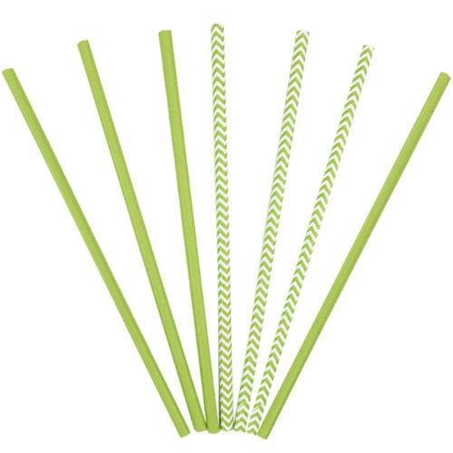 Трубочки бумажные ассорти Green 12 штук