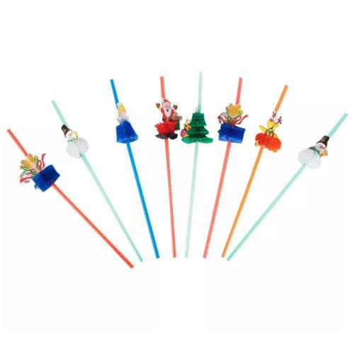 Трубочки для коктейля Новый год 8 штук