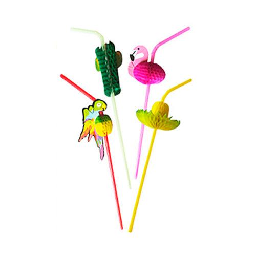 Трубочки для коктейля Тропики 8 штук