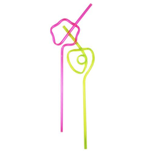 Трубочки для коктейля фигурные 20 штук