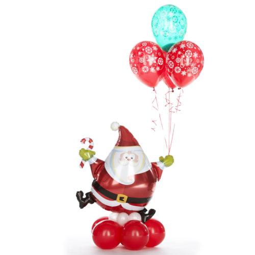 Фонтан из шаров Санта с конфетой