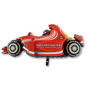 Шар 124 см Фигура Машина гоночная красная