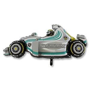Шар 124 см Фигура Машина гоночная серая