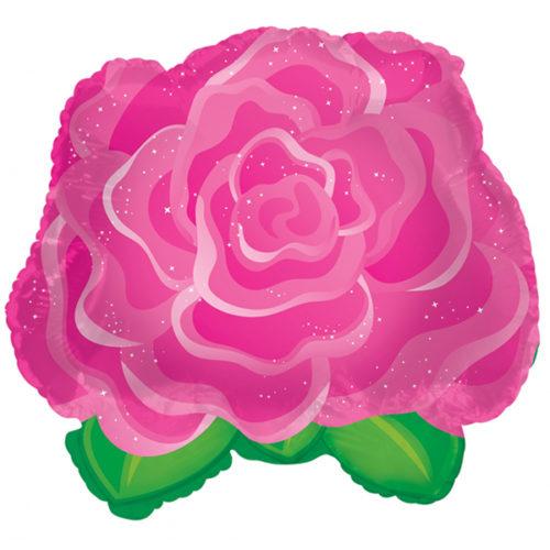 Шар 28 см Мини-фигура Роза Розовый