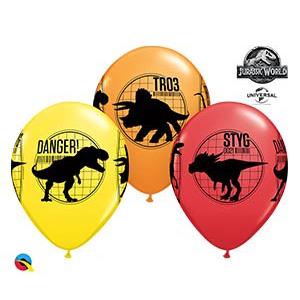Шар 30 см Динозавры Парк Юрского Периода Ассорти Пастель
