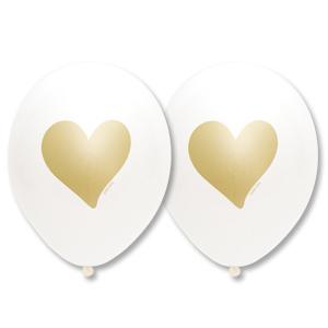 Шар 30 см Сердце Золотое