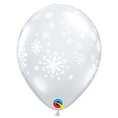 Шар 30 см Снежинки Diamond Clear Прозрачный