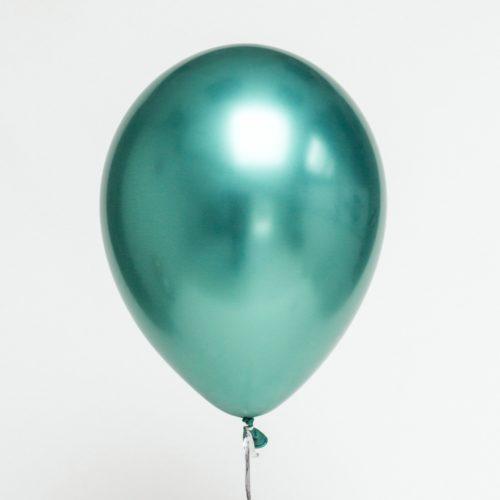 Шар 30 см Хром Зеленый