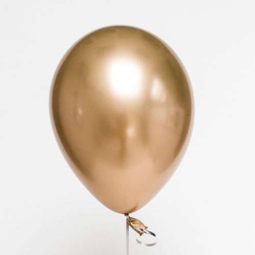 Шар 30 см Хром Золото