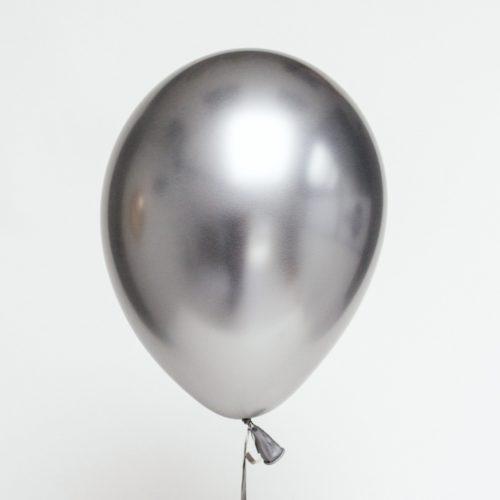 Шар 30 см Хром Серебро