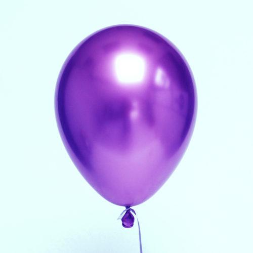 Шар 30 см Хром Фиолетовый